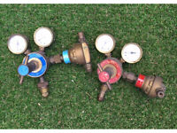 Gas welding regulators