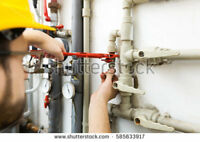Plumbing services journeyman, sinks, tubs, taps, shower heads