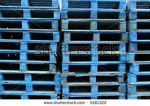 Blue shipping pallet