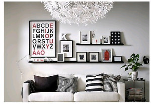 """2 IKEA Ribba picture ledges for photo frame 45.25"""" x 3.5"""""""