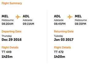RETURN FLIGHTS FROM MELBOURNE TO ADELAIDE FOR NYE PERIOD Melbourne CBD Melbourne City Preview
