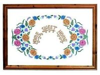 HOME SWEET HOME EMBROIDERY ARTWORK PICTURE FRAMED FROM