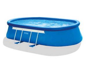 18 feet by 10 feet Inflatable Pool with Pump and Ladder