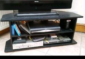 Black Brown TV stand unit