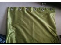 """Lime green eyelet curtains - 90"""" drop"""