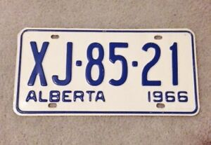 1966 Licence Plate