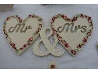 Mr & Mrs wedding prop £17.00 S13