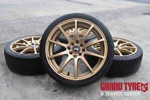 """17"""" Gold alloy wheels and tyres , multi Stud 4x114.3 4x100 ... Dandenong Greater Dandenong Preview"""