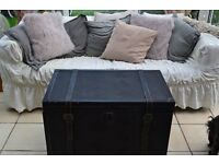 beautiful chaby chic trunk storage in great condition