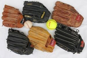 Baseball / softball gloves 6 leather gloveFrom top left:•Lo