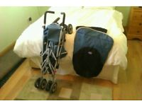 CHICO BABY BUGGY AND TRAVEL COT 50 POUNDS FOR BOTH OR 30 EACH ONO