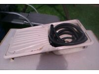 caravan sink and drainer unit in 1 good clean condition with 12v taps