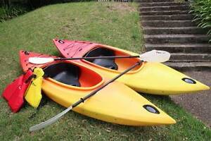 Single Sit In Kayaks with Paddles & PFDs Kings Langley Blacktown Area Preview