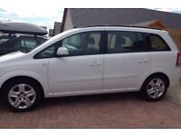 White vauxhall zafira for sale. 15,000 miles. 1.8 petrol. Excellent condition. Still under warranty