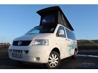 Volkswagen VW T5 Scotia Poptop Camper Van Hire rental Scotland Deposit £99 £95per night Campervan