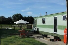 Static caravan in Rural location nr Ripon for short term rent thru May