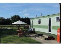 Static caravan in Rural location nr Ripon for short term rent thru May