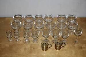 Vintage 12x ROSSO ANTICO Coctail Liqueur Stem & more wine glasses Mulgrave Monash Area Preview