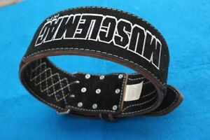 Weight lifting gym belt bodybuilding workout Cardillo Musclemag