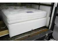 Used king size divan with mattrrss good condition free leicester delivery