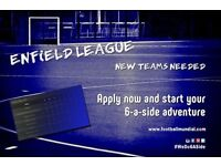 Enfield 6 a side league - New teams welcome