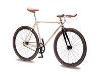Foffa Tan & Black Single Speed Fixie Bike Brand New