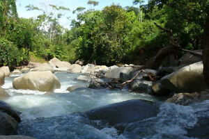 12 acres hobby farm in Costa Rica. River with natural pond.