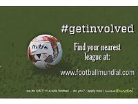Six a side Football teams needed in Crawley!