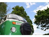 VW Campervan Type 2 Campervan 1974 (Tax Exempt) Bay Window Devon Conversion with Pop Top