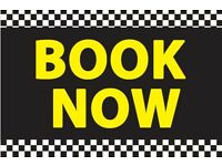 Taxi/airport/schools/work/day out travel transport booking
