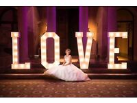 Hire our stunning 5ft light up 'LOVE' letters, add the WOW Factor to your special day £200