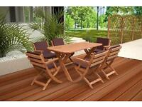 GARDEN FURNITURE SET / TABLE AND 6 CHAIRS /DINNING SET /PATIO FURNITURE