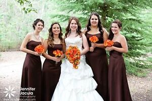 Dry Cleaned Chocolate Brown Bridesmaid Dress