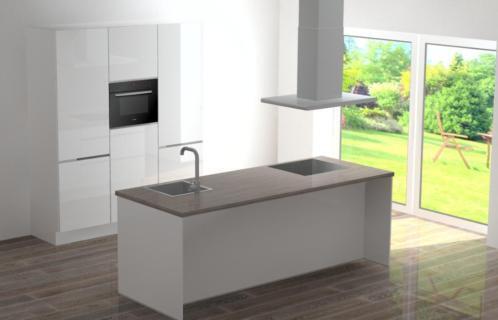 ≥ complete witte keuken hoogglans en greeploos goedkoop