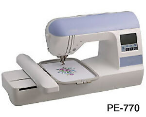 New-Brother-PE-770-Embroidery-Only-Sewing-Machine-USB-Monogramming-Software