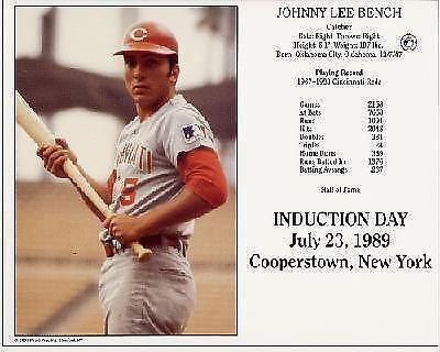 Johnny Bench Photo Ebay