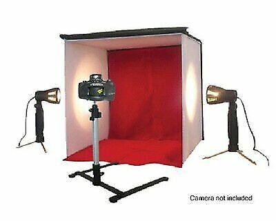 Portable Photo Light Box Tent Booth Studio Photography w/ 2 Lights