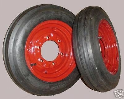 Two 4.00-12 Farmall Tractor Pulling Front Tires Wheels Rims