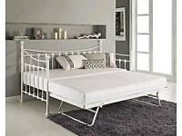 day beds with trundle in white and black colours free assembly service and delivery