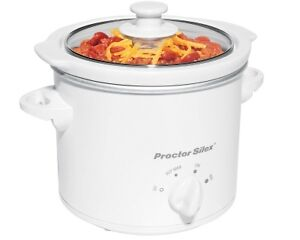 PROCTOR SILEX white OVAL SMALL SLOW COOKER