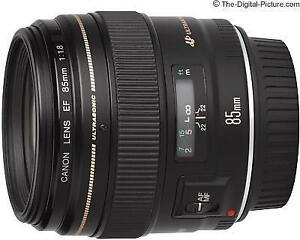 Canon 85mm F1.8 USM lens
