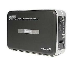 INFOSafe 3.5in USB 2.0 to Dual SATA Hard Drive Enclosure with RA