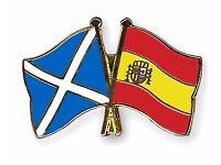 Spanish/English group language exchange in a West Edinburgh pub
