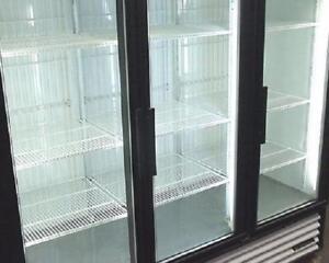 TRUE THREE DOOR GLASS FREEZER ( MADE IN U.S.A )