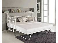 Day bed with trundle without mattresses free assembly service and delivery