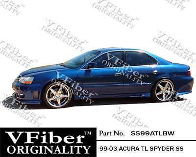 1999-2003 Acura TL 4dr VFiber Body Kit Spyder Side Skirt