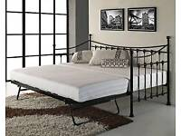 day beds with trundle free fitting and delivery (black or white)
