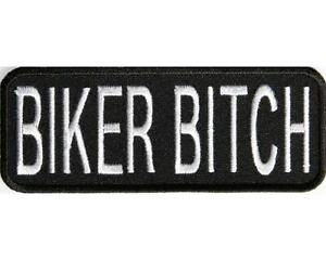 BIKER BITCH   PATCH BIKIE BIKER VEST HARLEY DAVIDSON CLUBS RUNS GIRL FEMALE