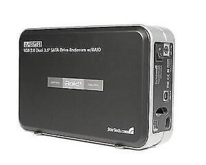 StarTech - INFOSafe 3.5in USB 2.0 to Dual SATA Hard Drive Enclosure with RAID - SAT3520U2R