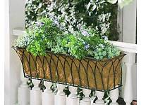4 Hanging troughs/baskets, gothic metal planters. Can deliver!